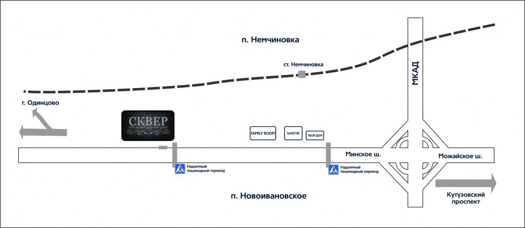 Схема проезда к ювелирному